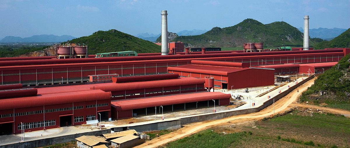 来宾银海铝业电解车间钢结构工程