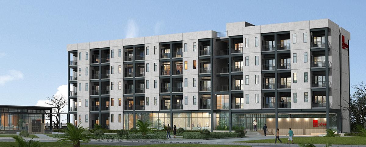 景典装配式建筑产业基地1号实验楼项目顺利完工