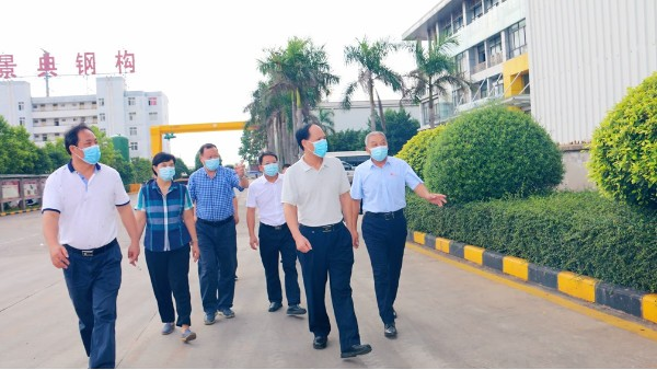 南宁市人大督办组到景典钢结构有限公司进行督查指导