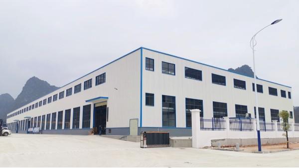 广西泰淇电力器材年产18万节混凝土电杆项目钢结构厂房顺利竣工验收
