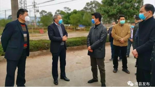 景典公司迎接横县疫情防控工作领导小组工作检查并正式复工生产