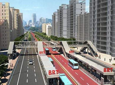 南宁市快速公交(BRT)试点工程
